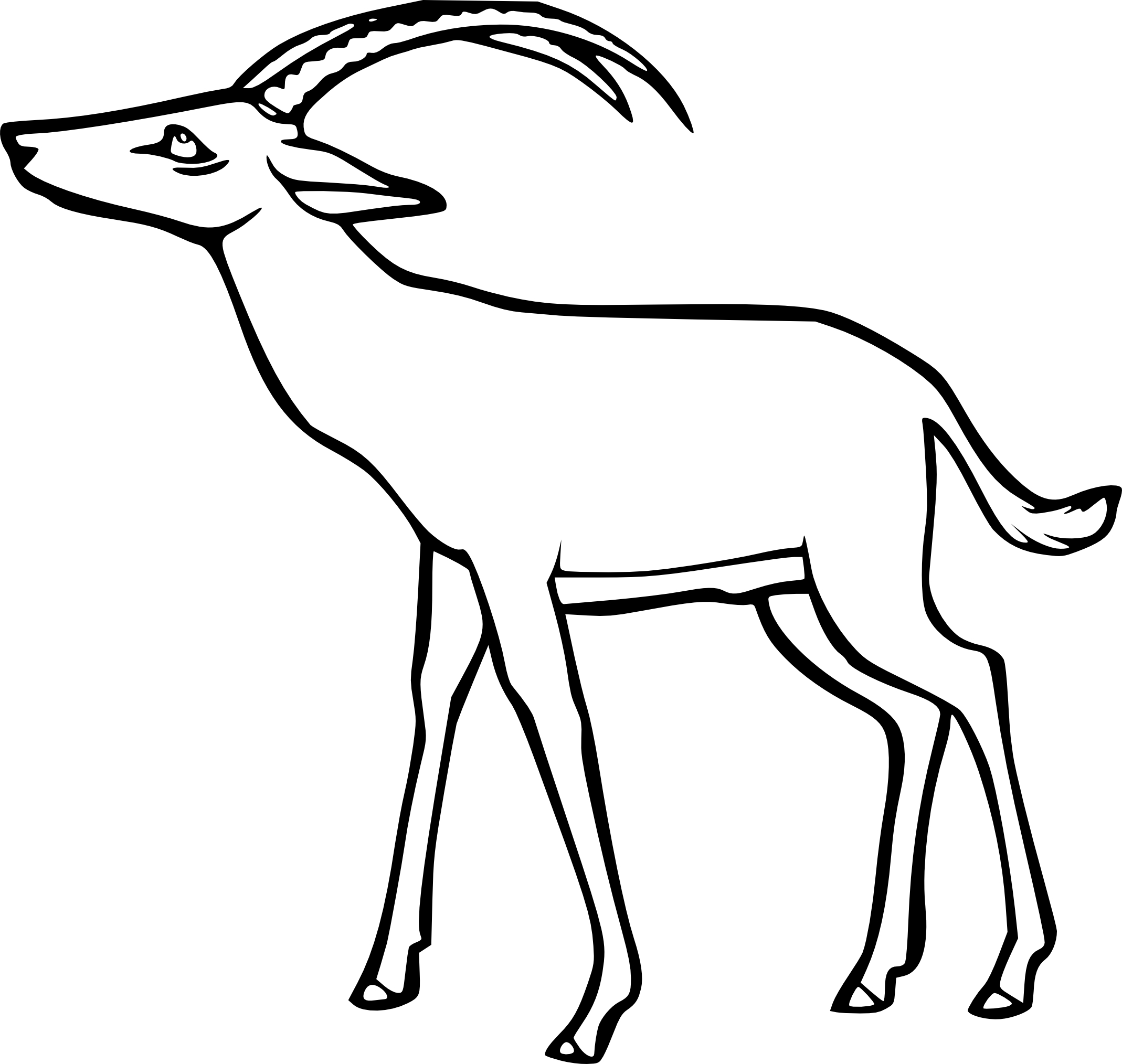 how to draw a baby gazelle