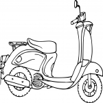 Coloriage Scooter ancien