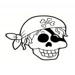 Coloriage Tête de pirate
