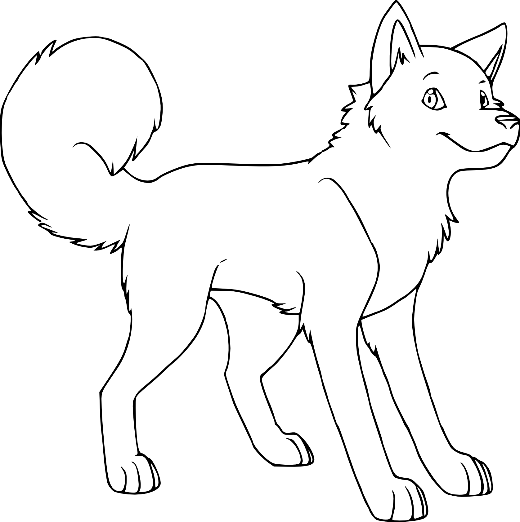 Holiday Coloring Pages » Husky Coloring Pages - Free Printable ...
