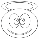 Coloriage Smiley ange
