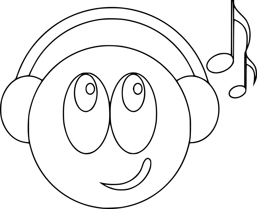Happy Face Emoji Coloring Coloring Pages