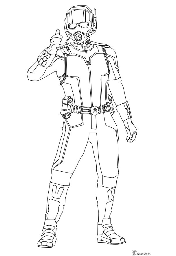 Avengers Wasp Coloring Pages : Ant man marvel coloring pages pictures to pin on pinterest