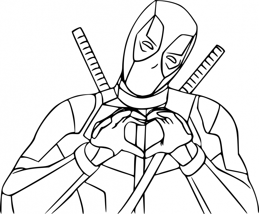coloriage deadpool imprimer sur coloriages info. Black Bedroom Furniture Sets. Home Design Ideas