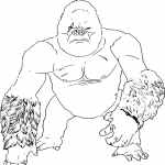Coloriage King Kong dessin