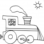 Train enfant dessin