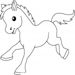 Coloriage Bebe Poney.Coloriage Bebe Poney A Imprimer Sur Coloriages Info