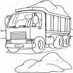 Coloriage Camion benne