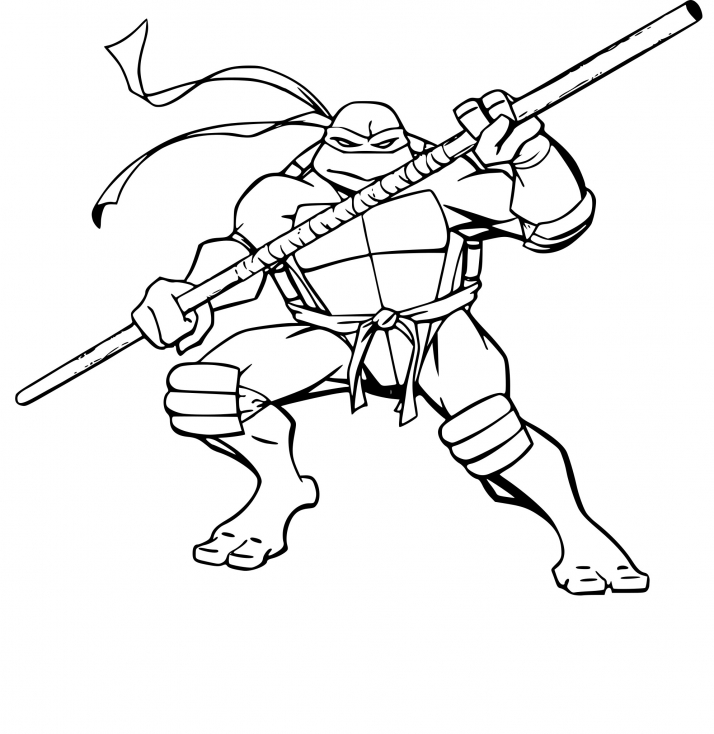 Coloriage tortue ninja donatello imprimer sur coloriages - Coloriage tortues ninja ...