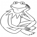 Coloriage Grenouille Muppet