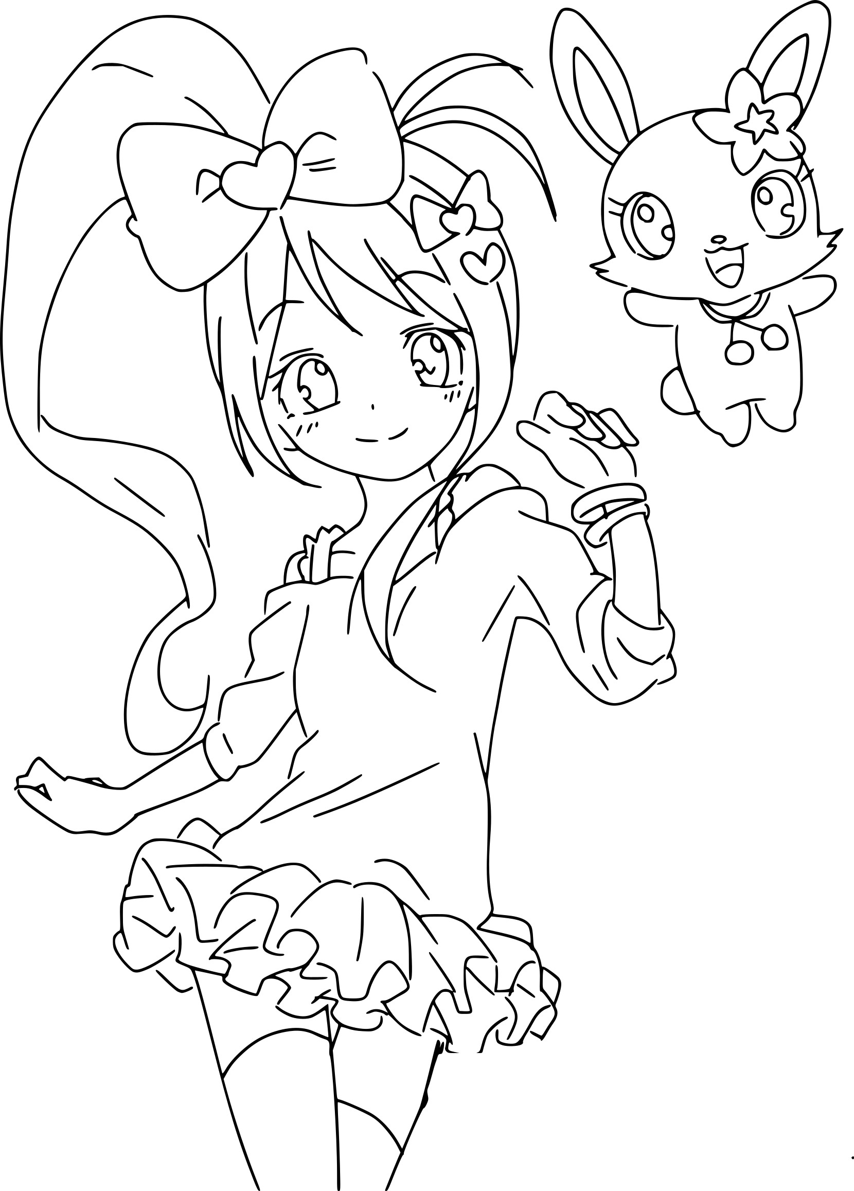 coloriage jewelpet fille manga imprimer sur coloriages info. Black Bedroom Furniture Sets. Home Design Ideas