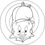 Coloriage Chasseur Looney Tunes