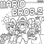 Coloriage Mario Bros 2
