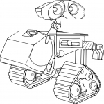 Coloriage Wall-E dessin