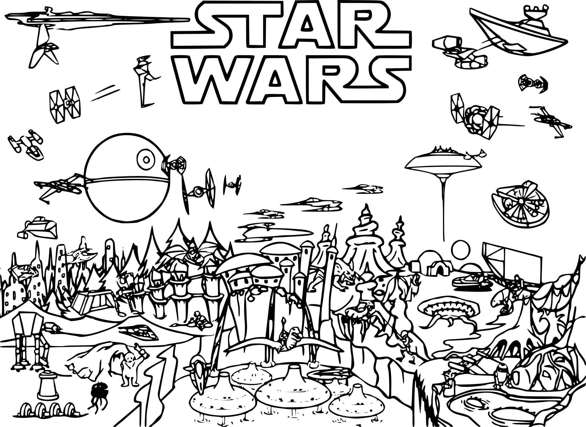 Coloriage star wars 3 imprimer sur coloriages info - Coloriage star wars 3 ...