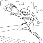 Coloriage Super Woman