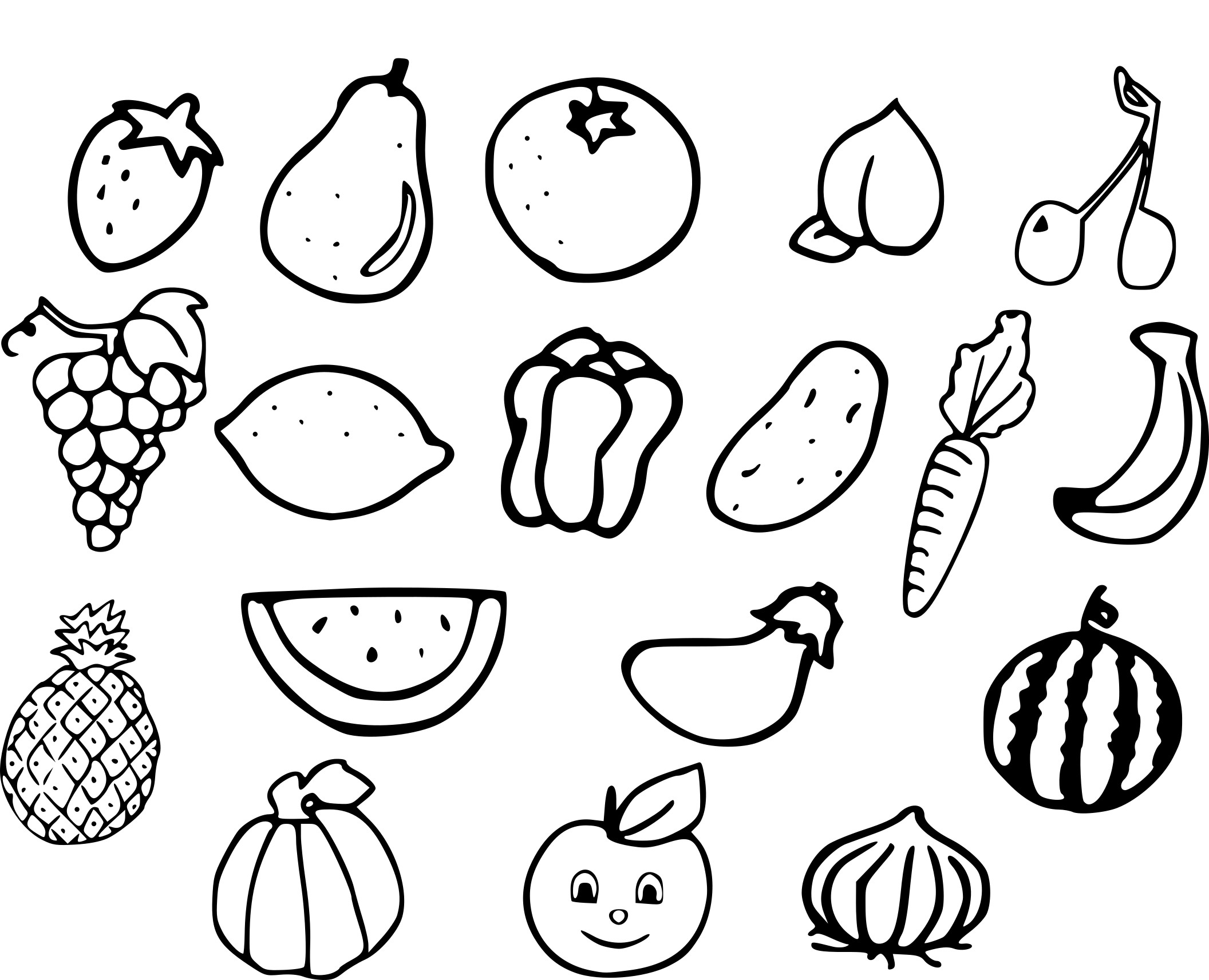 Dessins coloriages pour enfants legumes - Fruits coloriage ...