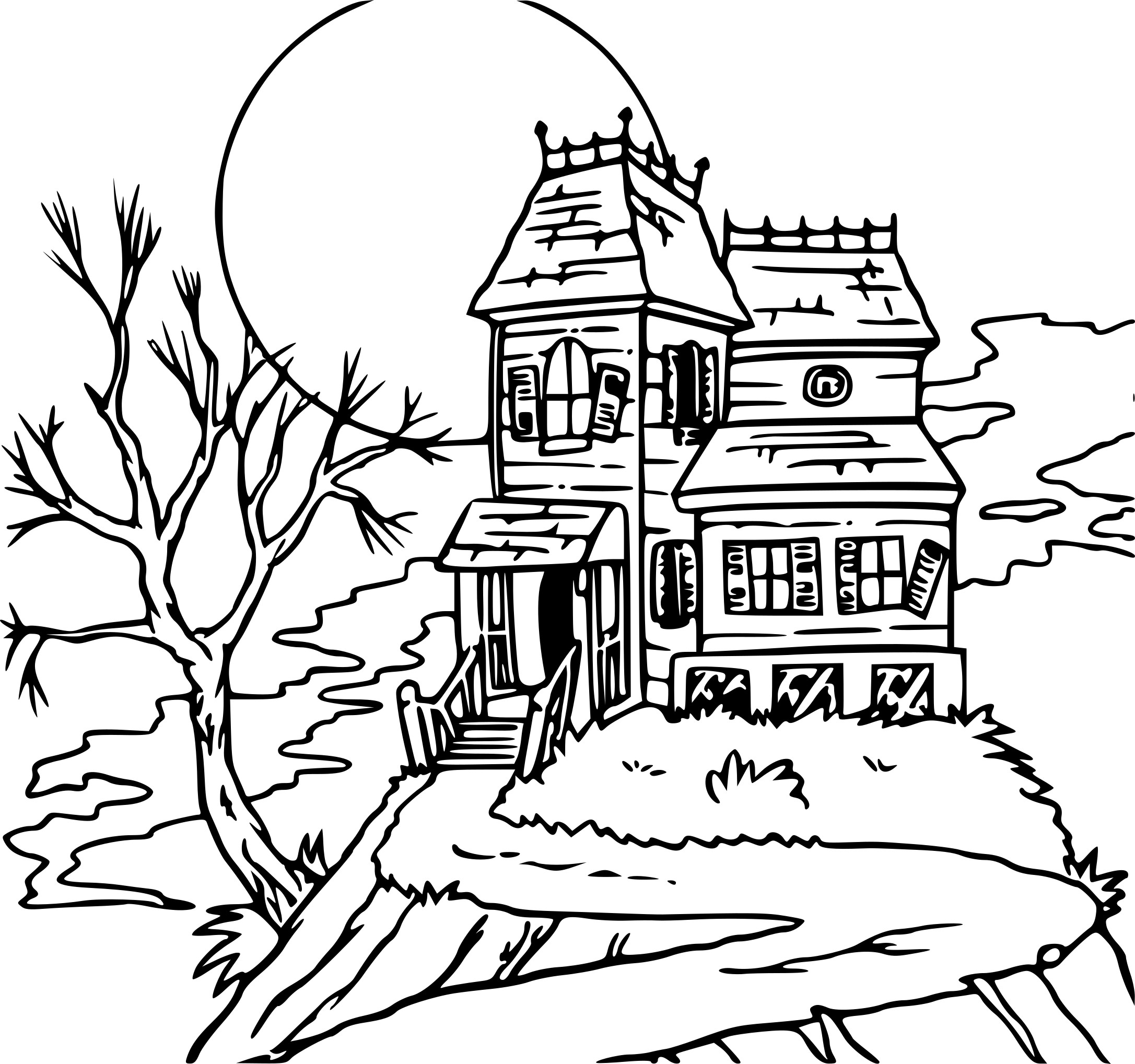 scary house coloring pages - photo#26