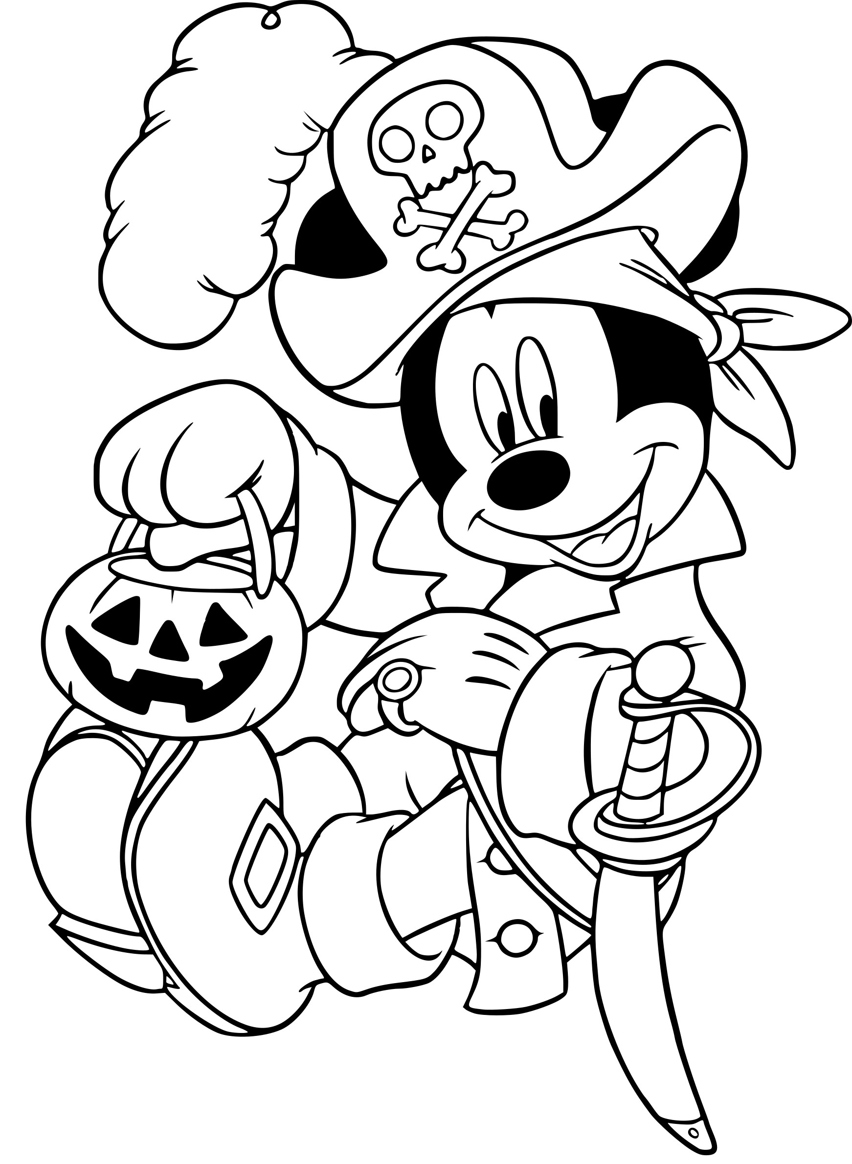 Coloriage Mickey Halloween A Imprimer Sur Coloriages Info