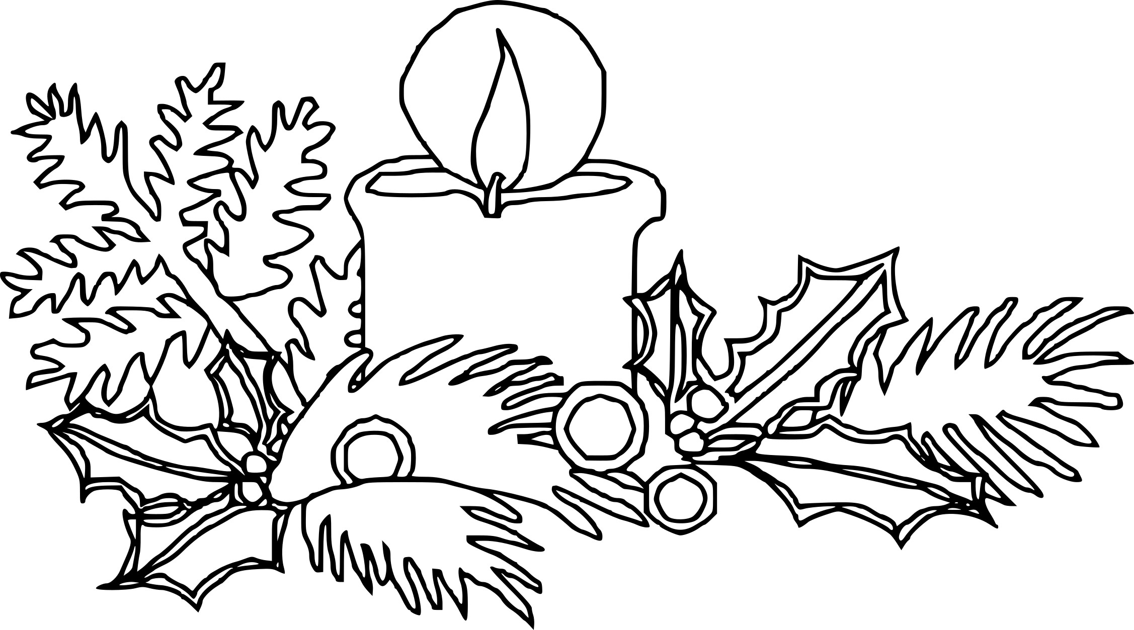 coloriage bougie de noel dessin imprimer sur coloriages info. Black Bedroom Furniture Sets. Home Design Ideas