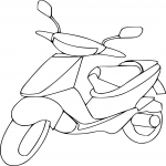 Coloriage Scooter tuning