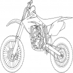 Coloriage Moto Cross