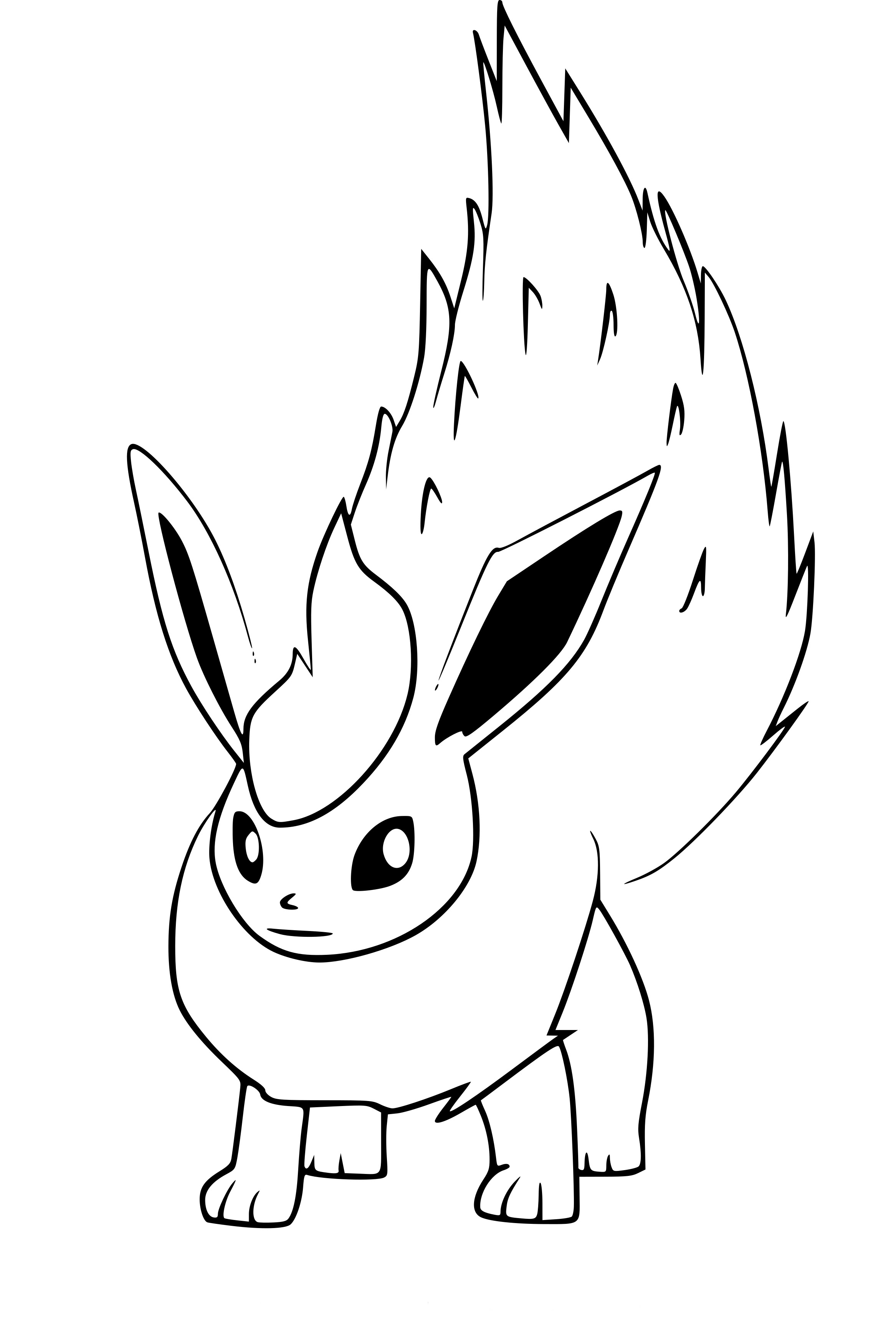 20 Belle Coloriage Pokemon Pyroli