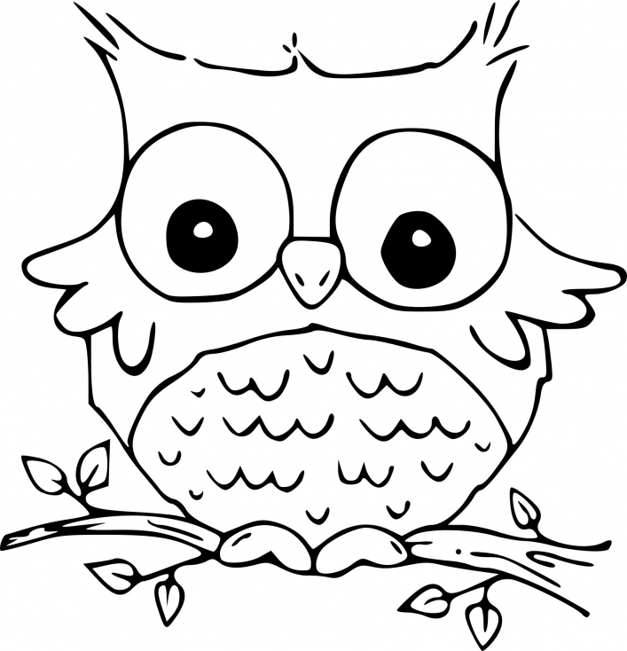 coloriage hibou marrant imprimer sur coloriages info. Black Bedroom Furniture Sets. Home Design Ideas
