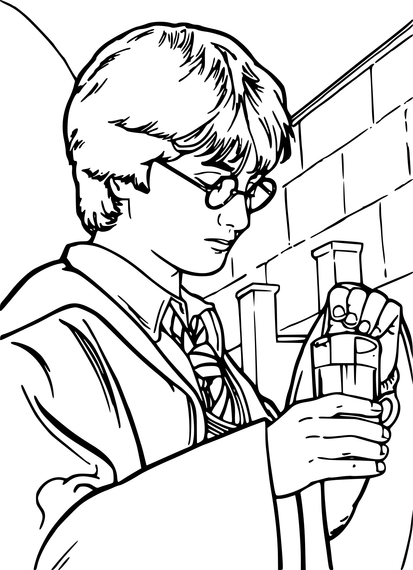 Coloriage Harry Potter Dessin A Imprimer Sur Coloriages Info