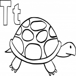 Coloriage T comme tortue