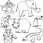 Coloriage Animaux sauvages dessin