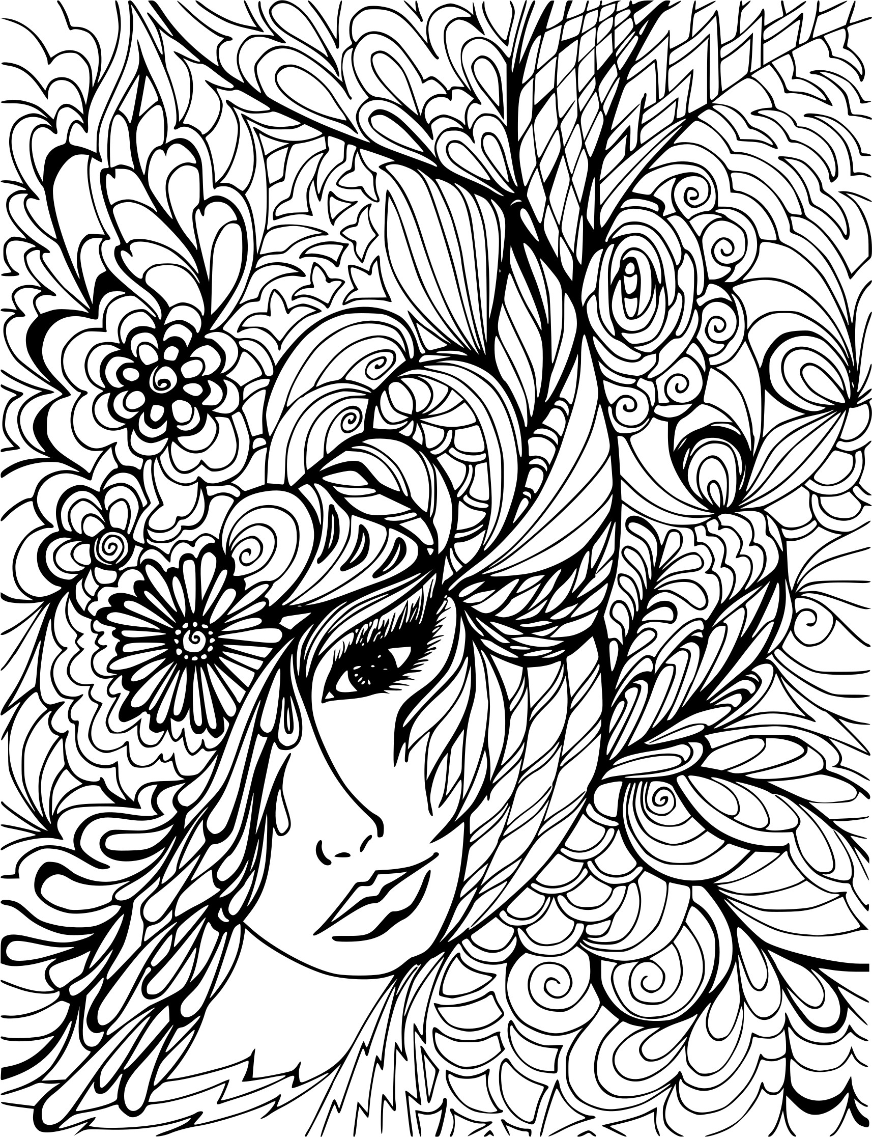 Coloriage anti stress cameleon - Anti coloriage ...