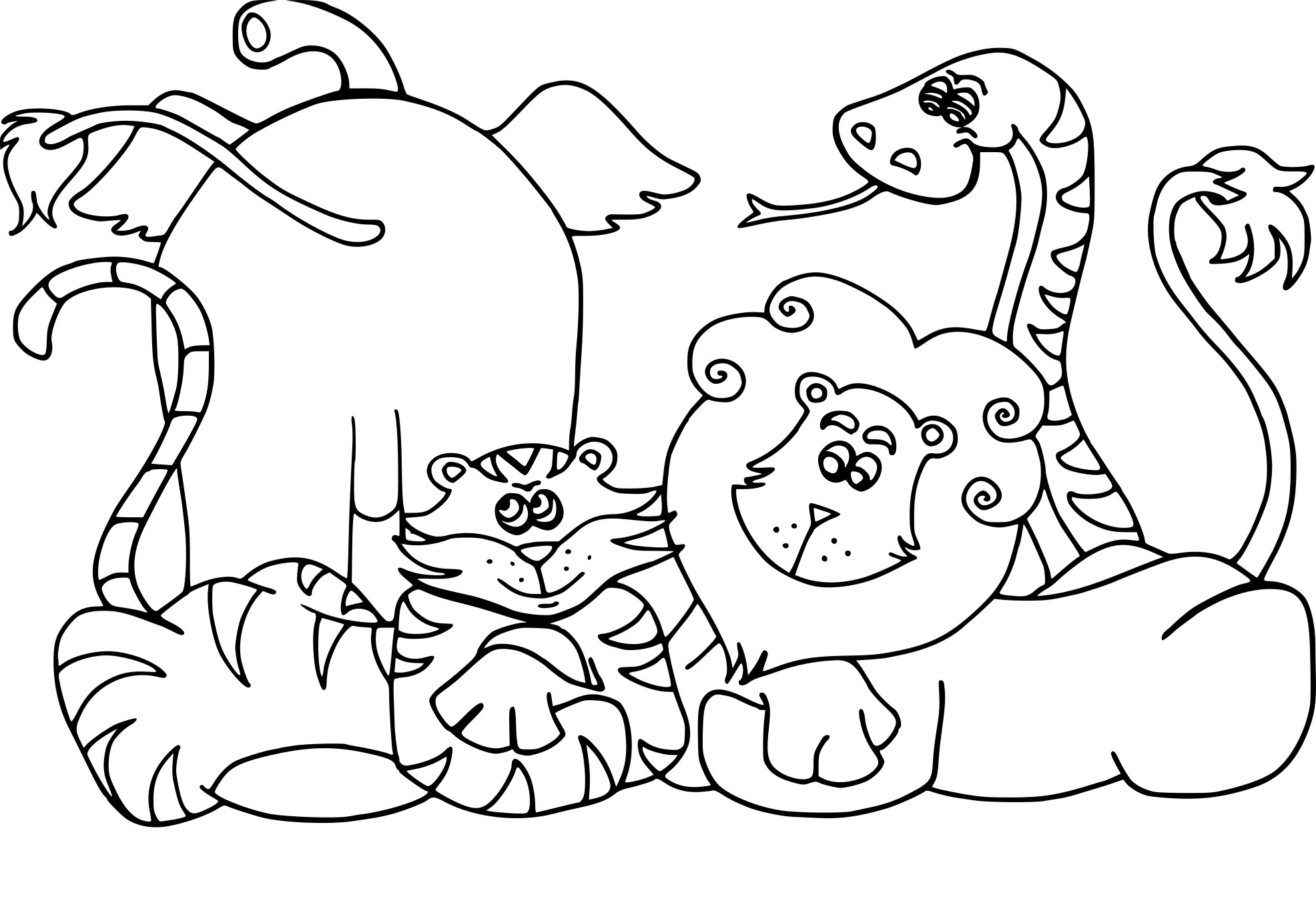 Animal coloring pages crocodile - Animal dessin ...