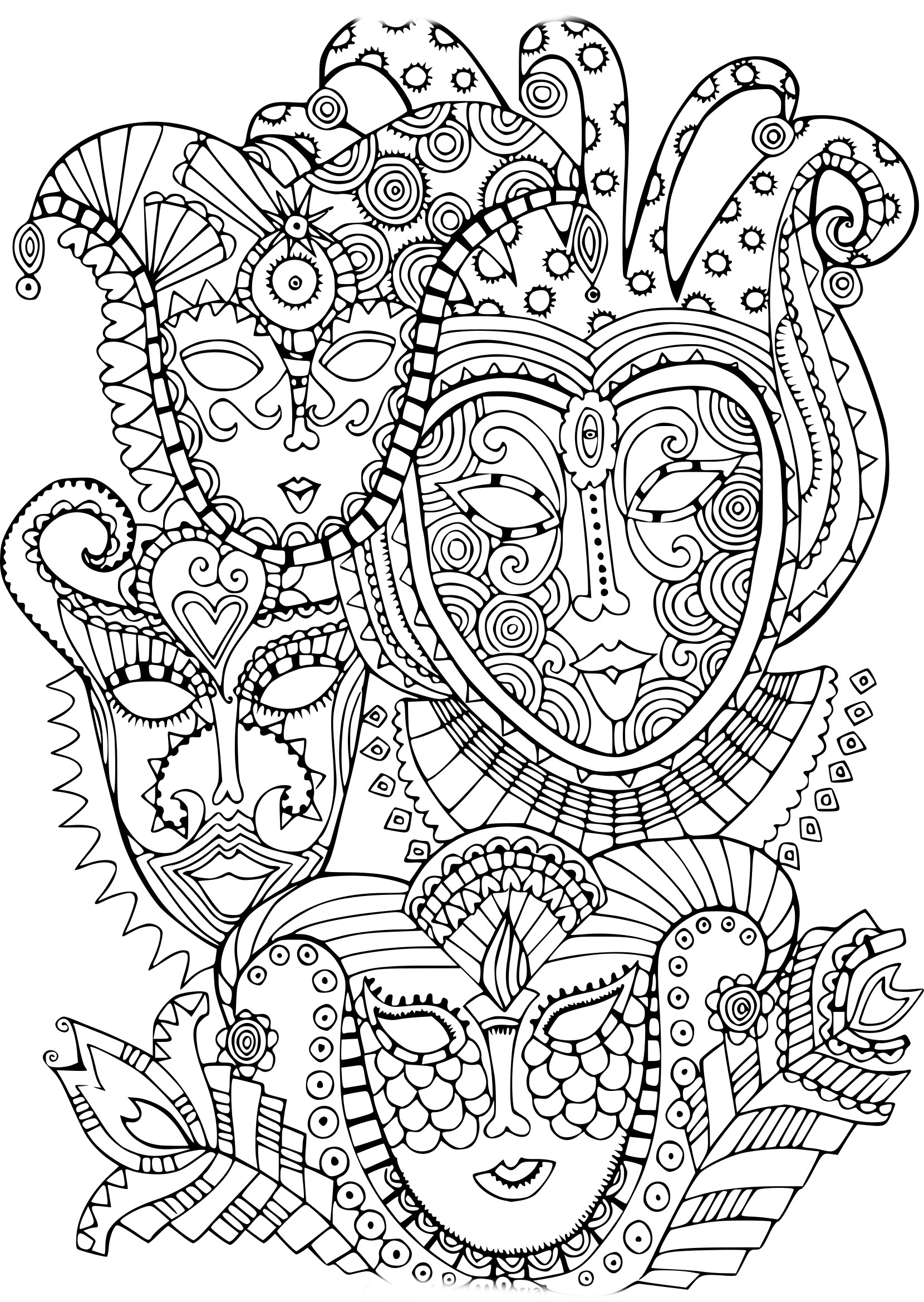 Anti Stress Carnaval Coloriage