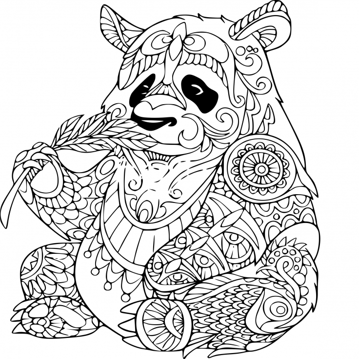 Coloriage panda anti stress imprimer sur coloriages info - Chat a colorier adulte ...