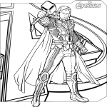Coloriage Avengers Thor