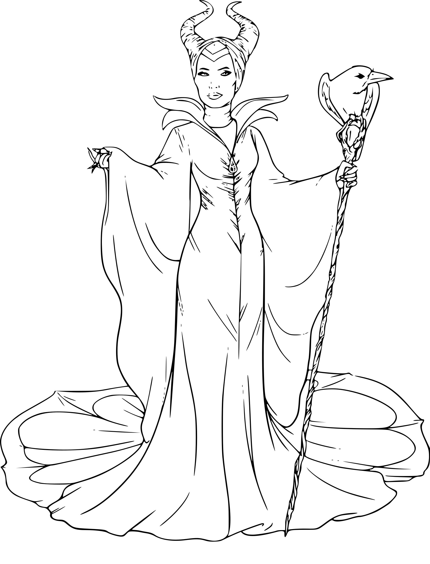 Coloriage mal fique dessin imprimer sur coloriages info for Evil queen coloring pages