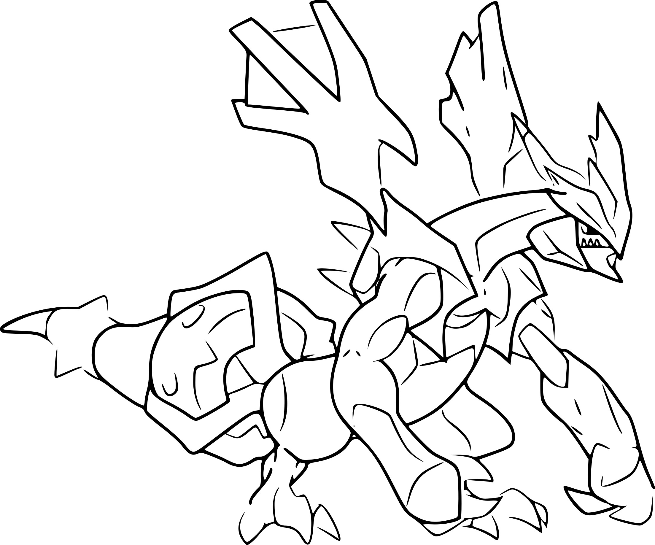Coloriage pokemon legendaire kyurem - Coloriage pokemon legendaire ...