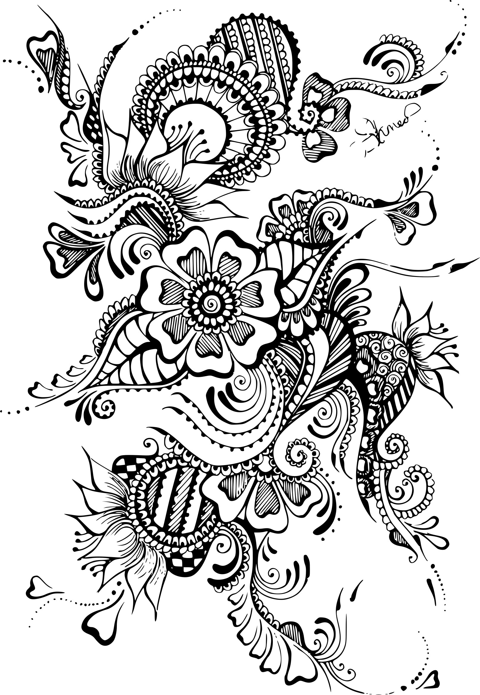 Coloriage anti stress tatouage my blog - Anti coloriage ...