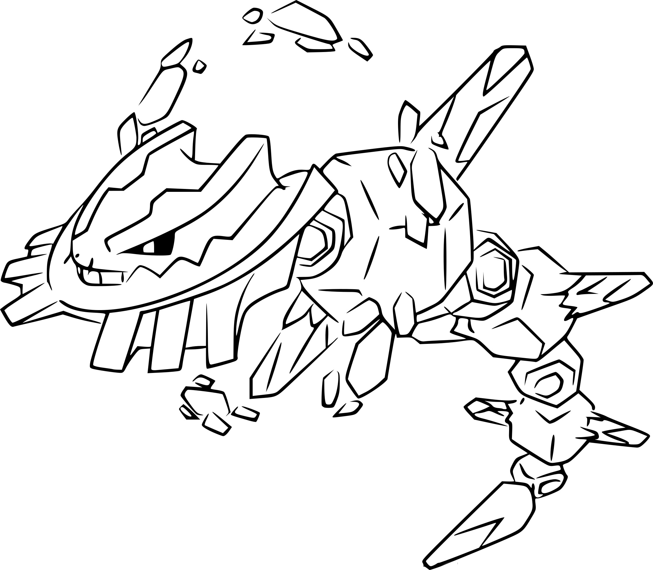 Coloriage M 233 Ga Steelix Pokemon 224 Imprimer Sur Coloriages Info Mega Coloring Pages
