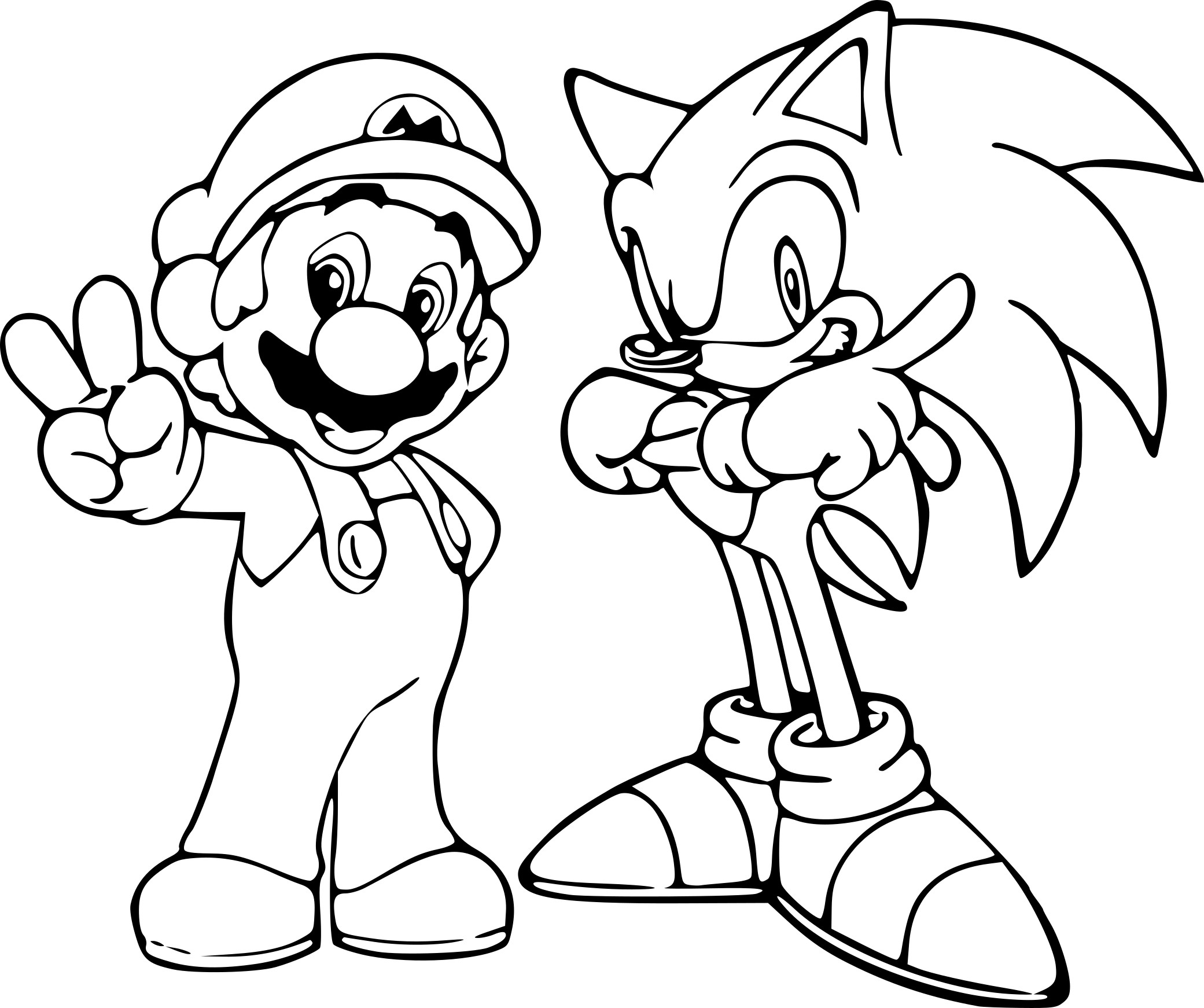 Coloriage sonic et mario imprimer sur coloriages info for Mario and sonic coloring pages