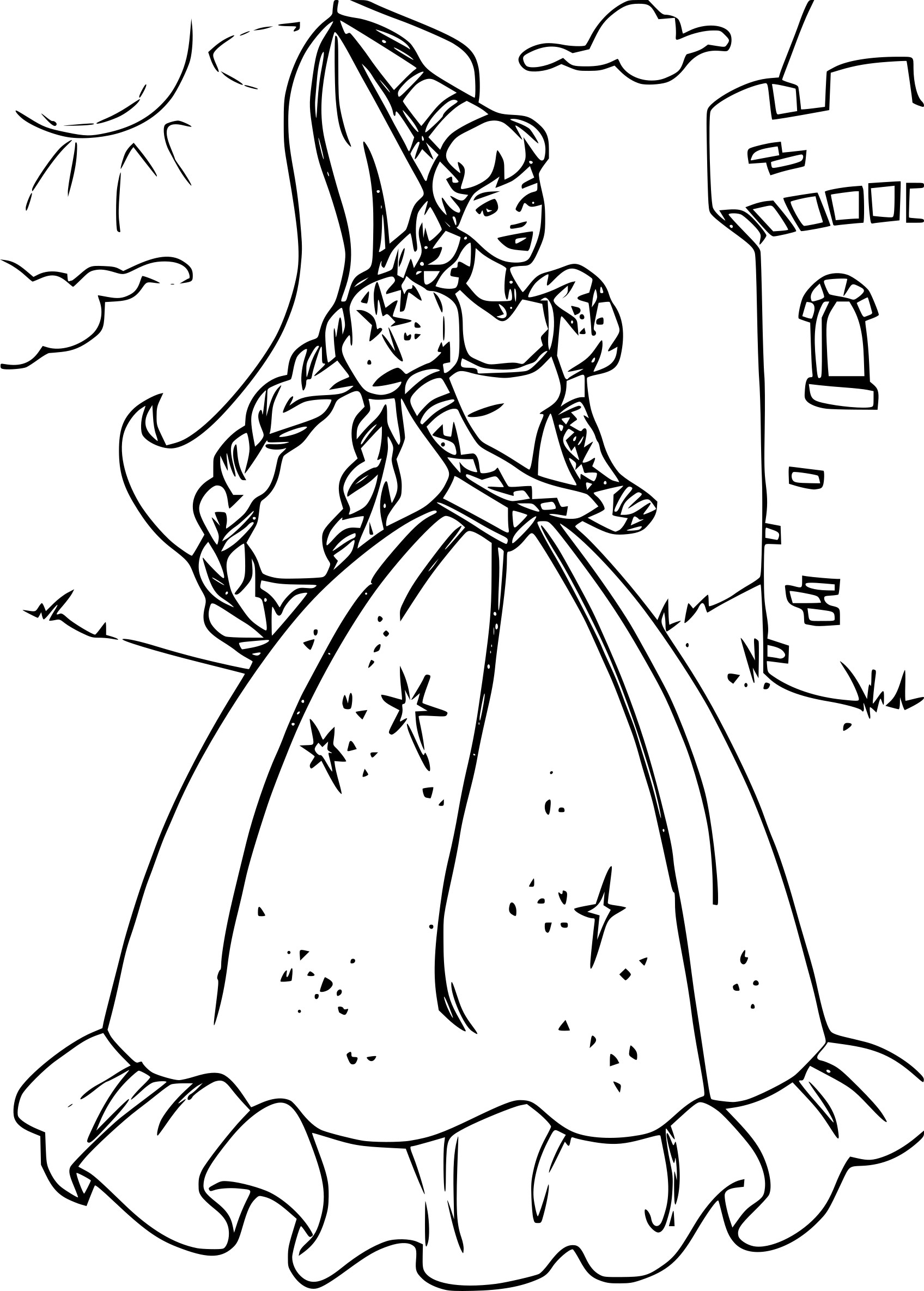 Coloriage princesse barbie dessin imprimer sur - Barbie princesse coloriage ...