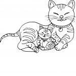 Coloriage Chat et chaton