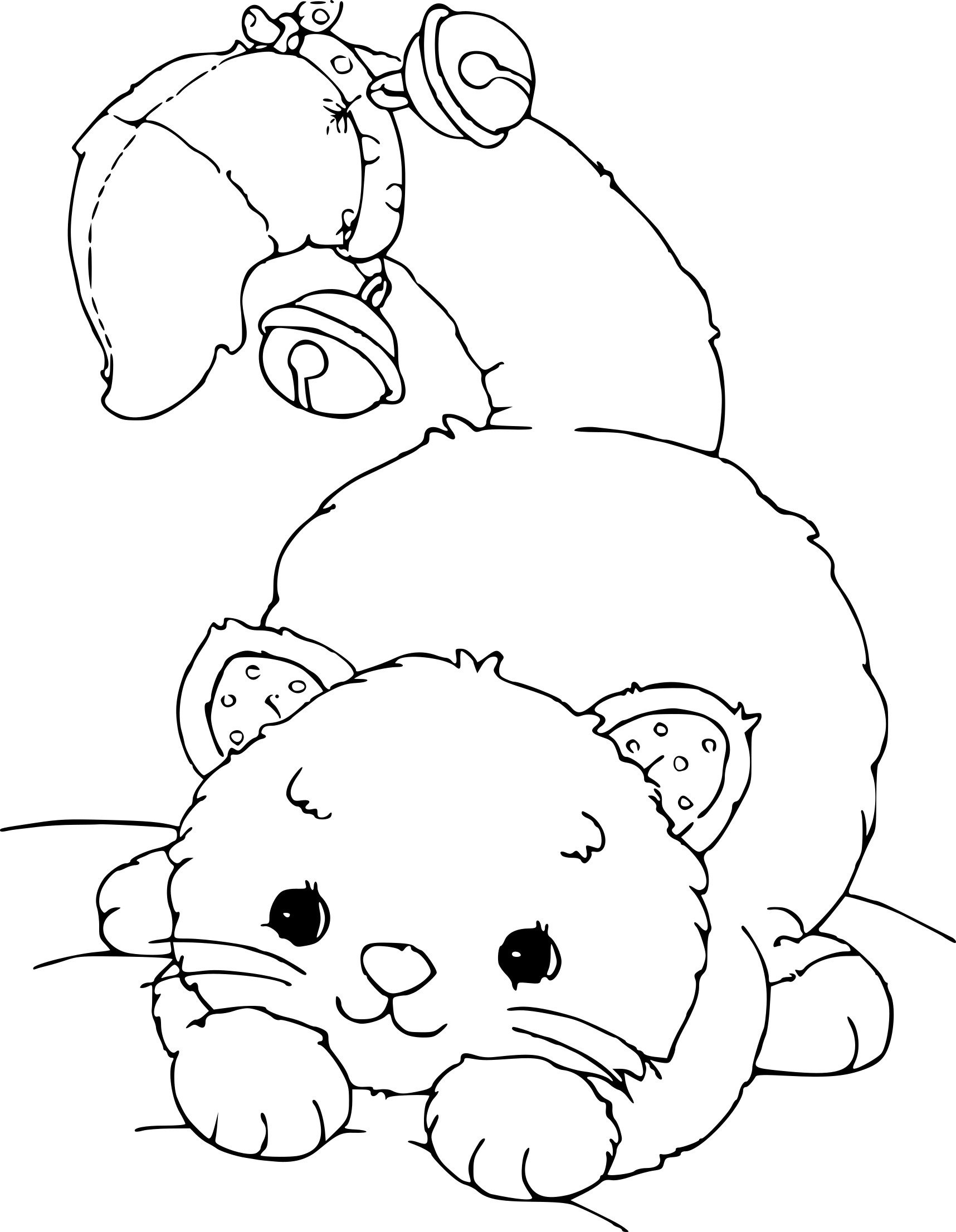 Coloriage Chat Noel.Coloriage Chat De Noel A Imprimer Sur Coloriages Info
