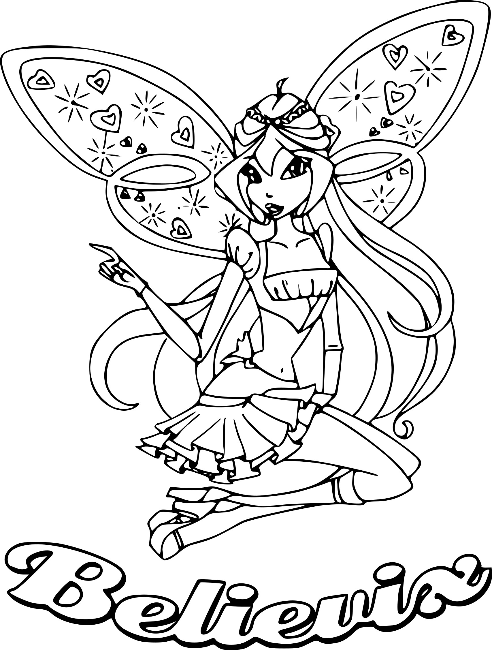 coloriage winx believix
