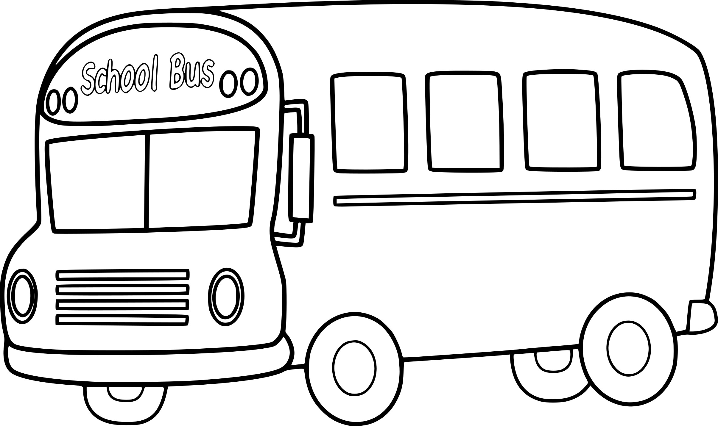The gallery for bus black and white clipart - Bus scolaire dessin ...