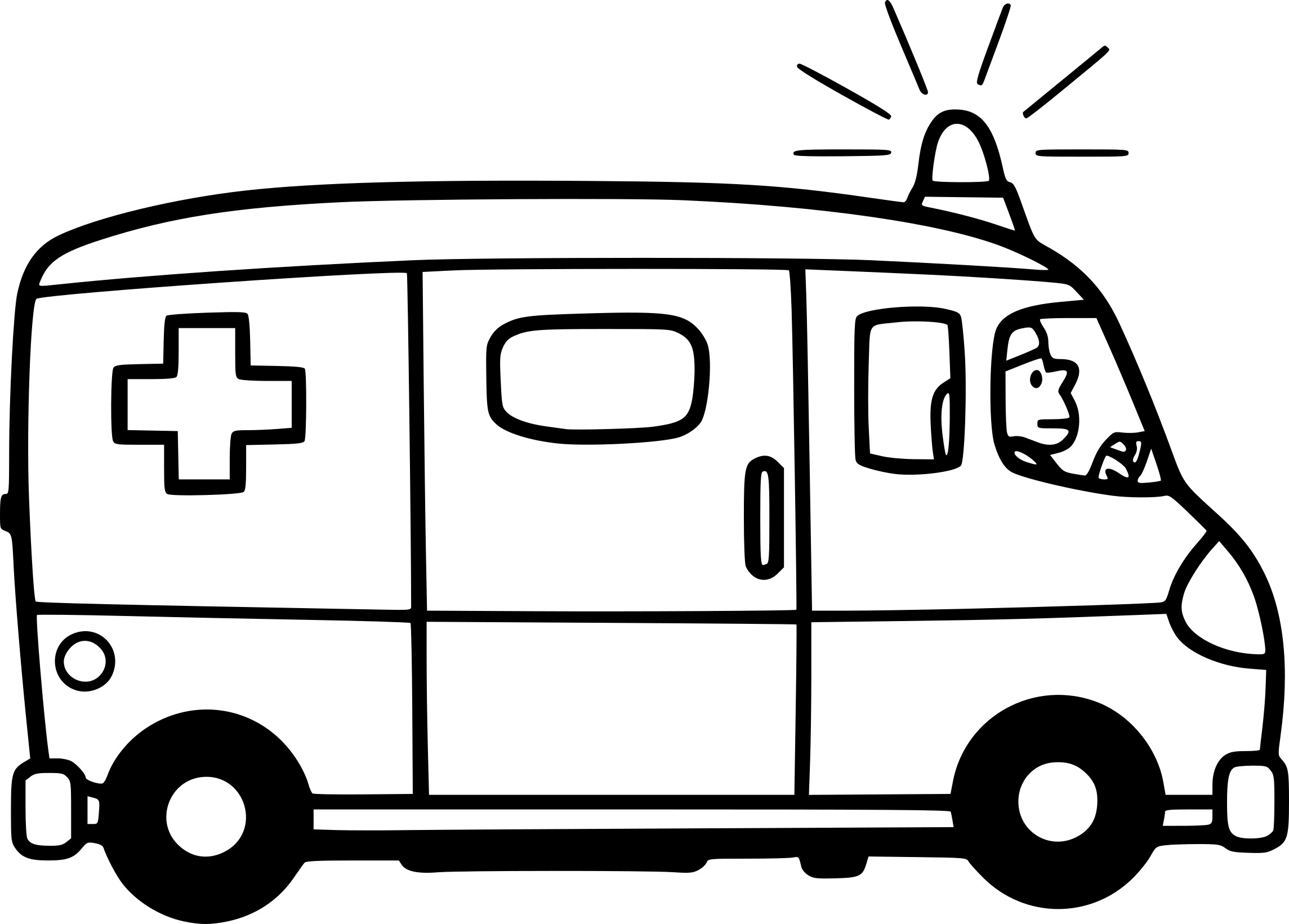 Coloriage ambulance facile imprimer sur coloriages info - Dessin ambulance ...