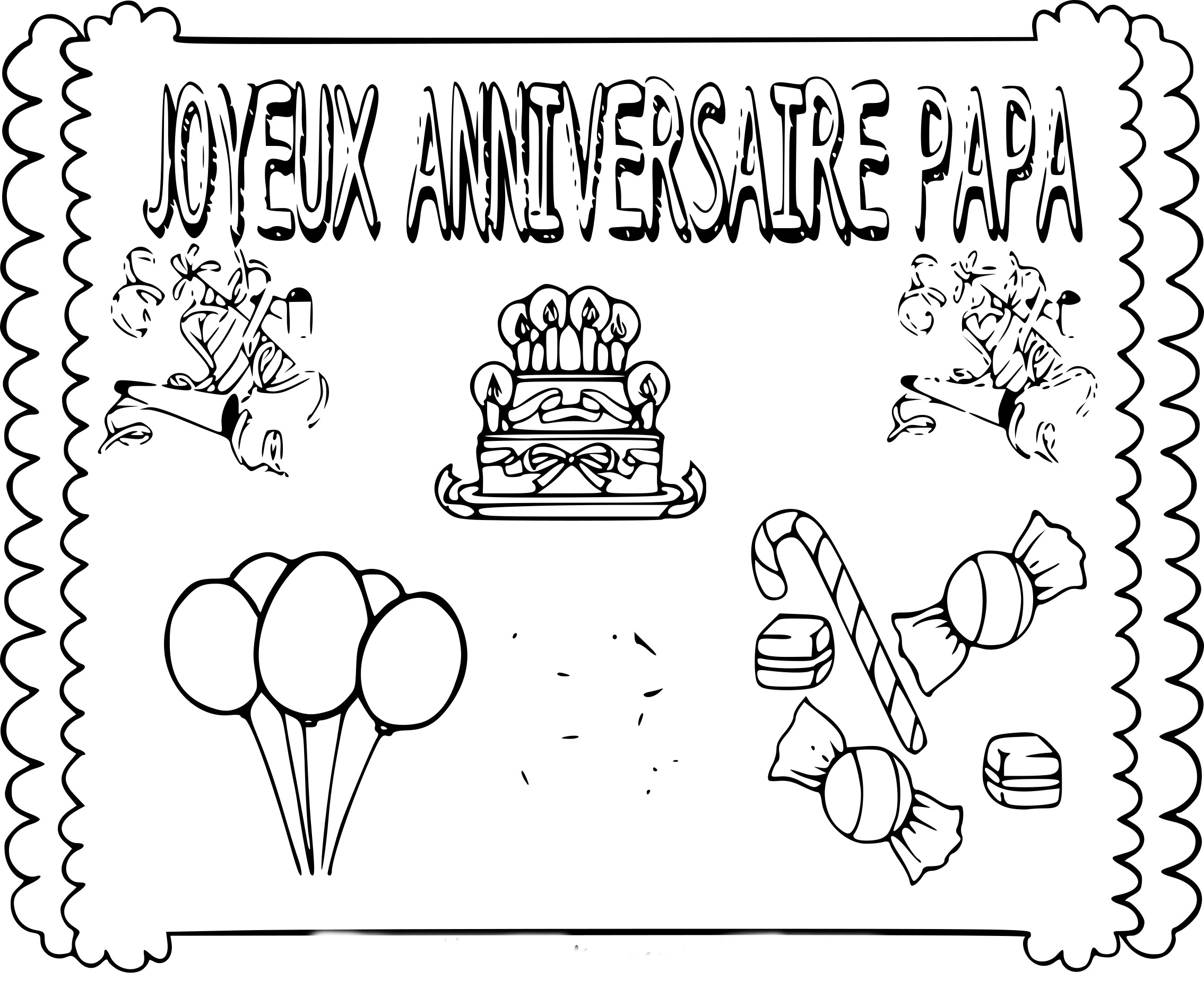 coloriage joyeux anniversaire papa imprimer sur coloriages info. Black Bedroom Furniture Sets. Home Design Ideas