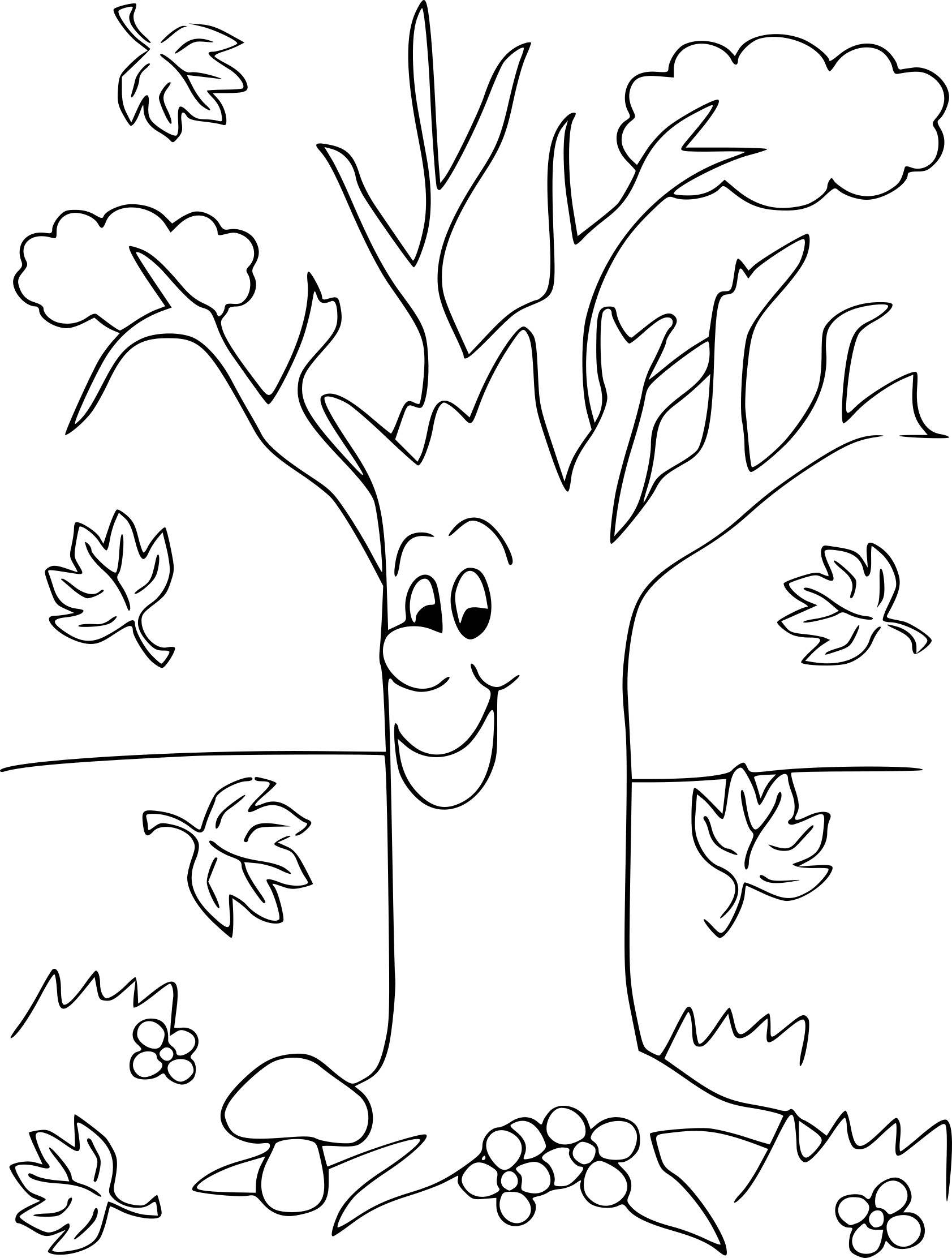 automne maternelle dessin