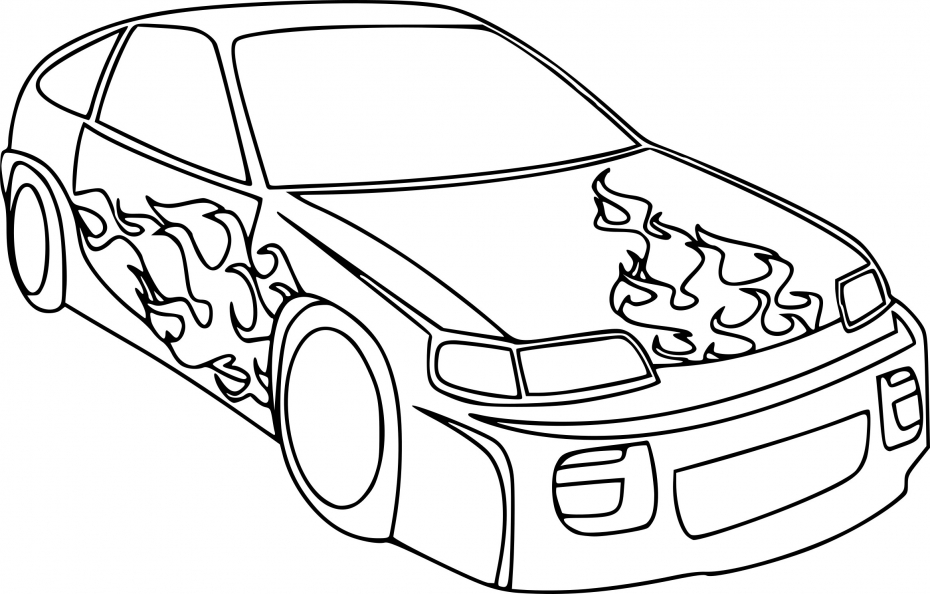 Automobile de course dessin